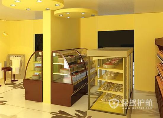 小型現代風格蛋糕店商品柜裝修效果圖…