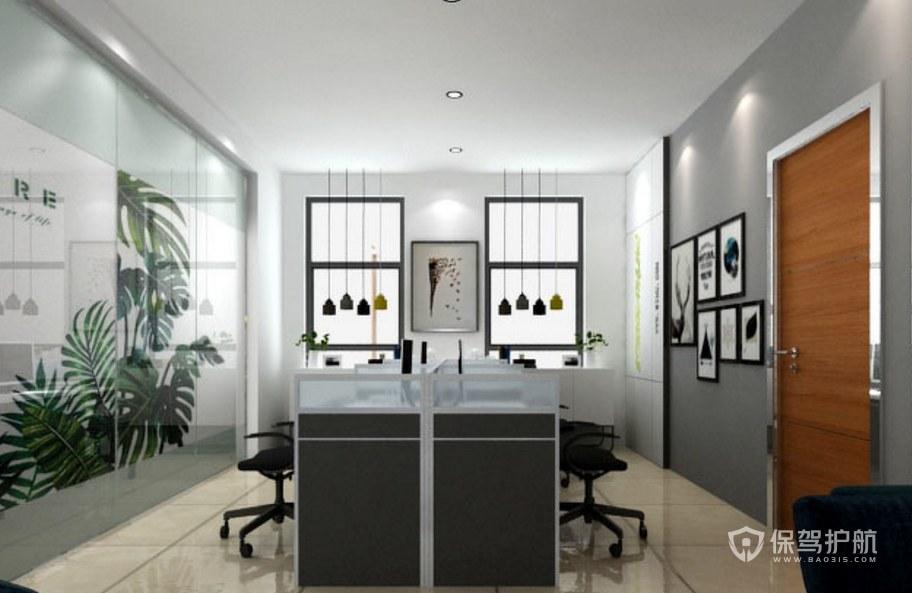 小户型办公室办公区装修效果图