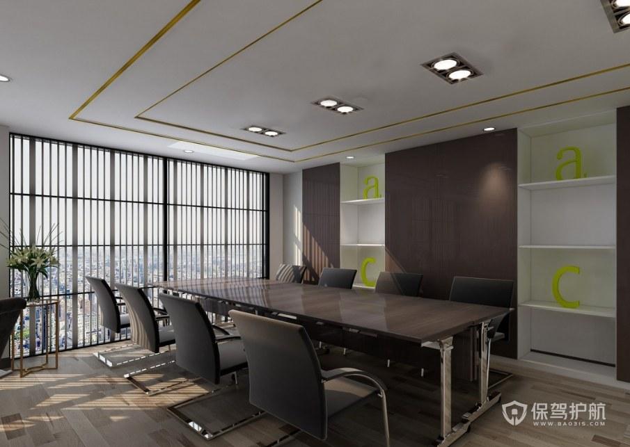 现代创意办公会议室装修效果图