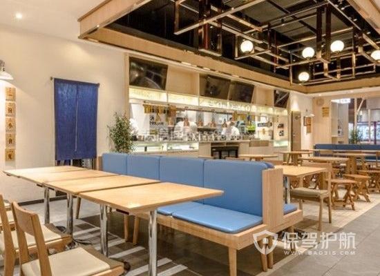 110平米日式風格小吃店裝修效果圖