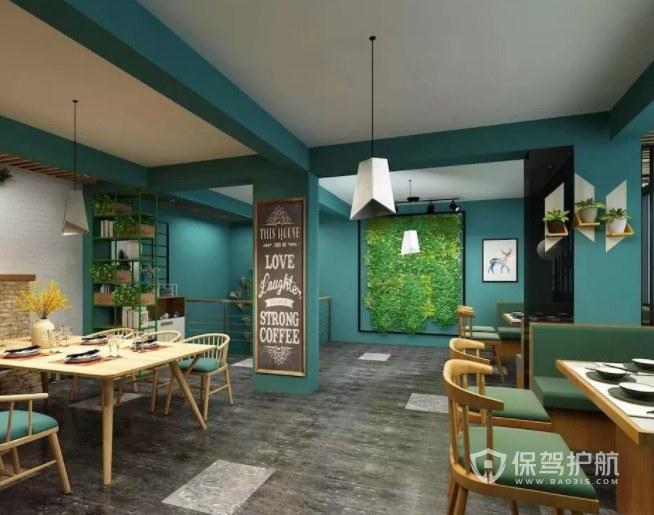 新中式田园风创意火锅店装修效果图