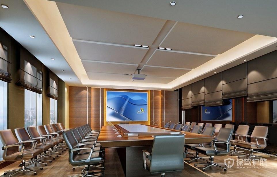豪华办公会议室装修效果图