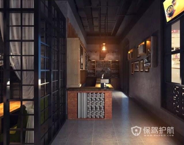 中式復古民國風火鍋店裝修效果圖