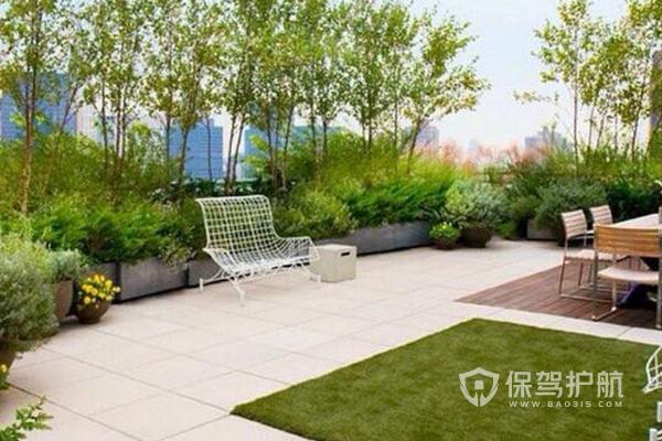 楼顶<a href='http://xiaoguo.bao315.com/dantu/fangwuxiaoguotu/huayuan'style='color:blue'>花园装修效果图</a>-保驾护航装修网