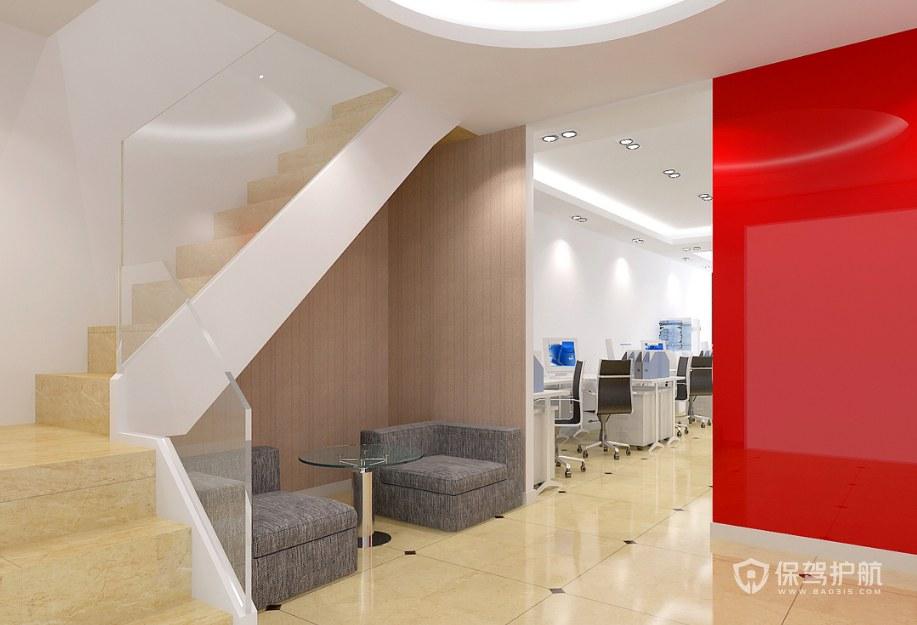复式办公楼梯装修效果图