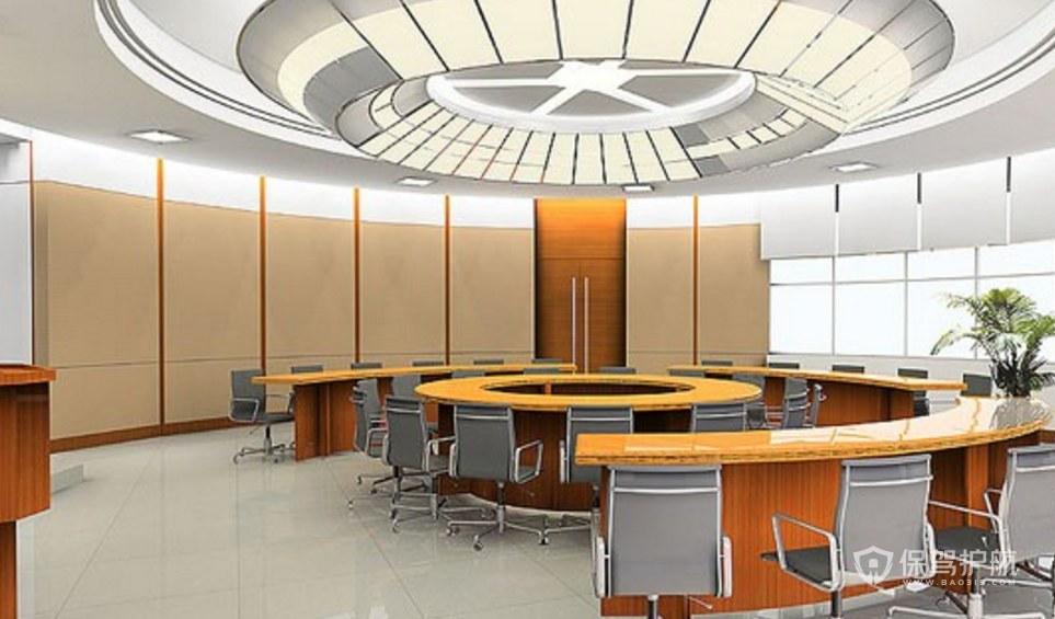 圆环办公会议室装修效果图