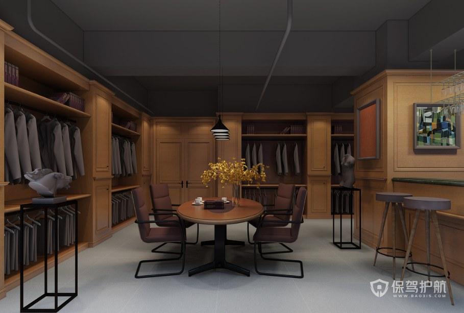 日式风格办公接待室装修效果图
