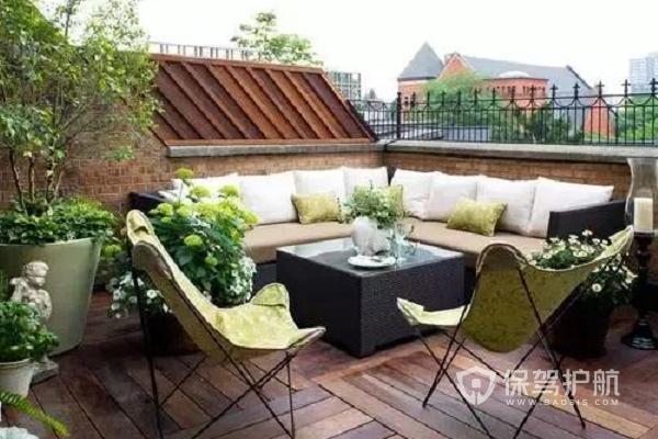 楼顶花园装饰效果图-保驾护航装修网