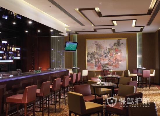 50平米简欧小型酒吧吧台装修效果图