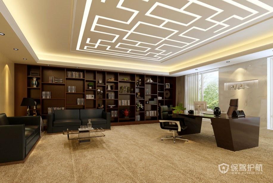 新中式总裁办公室装修效果图