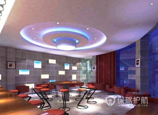 80平米现代风格酒吧吊顶装修效果图