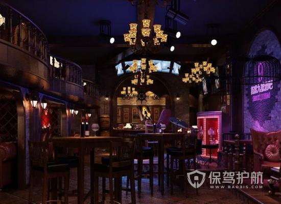 复古风格酒吧灯光设计效果图