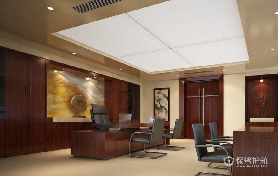 后现代风格老板办公室装修效果图