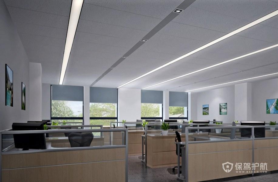 现代简约办公室办公区装修效果图