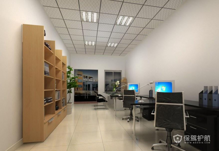 现代简约办公财务室装修效果图