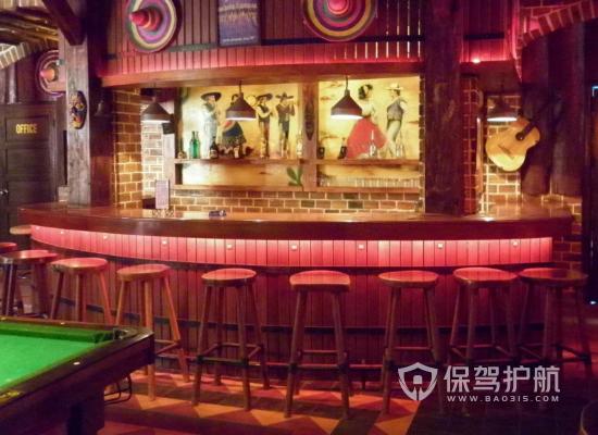100平米欧式风格酒吧吧台装修效果图…