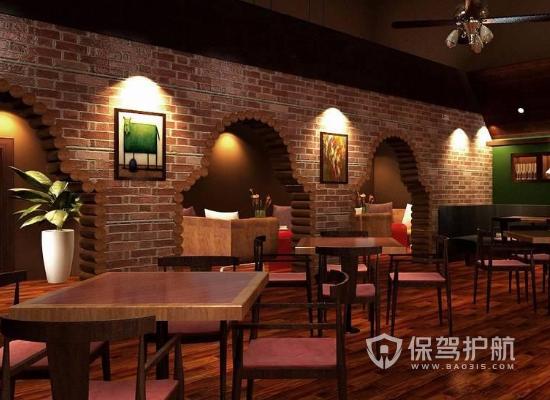 110平米現代復古風格酒吧裝修效果圖…