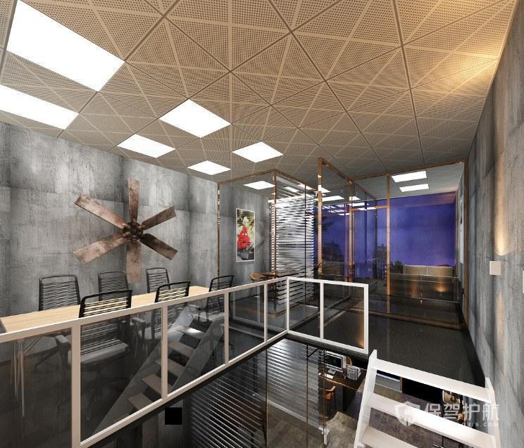 复式办公室二层装修效果图
