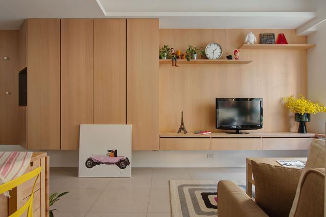 买60㎡二手房,老公自己设计,坚持小客厅里隔一半做书房!
