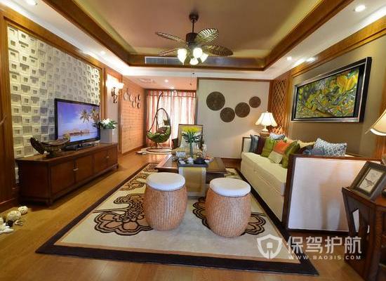 東南亞風格家居如何裝修?95平米東南亞風格裝修案例