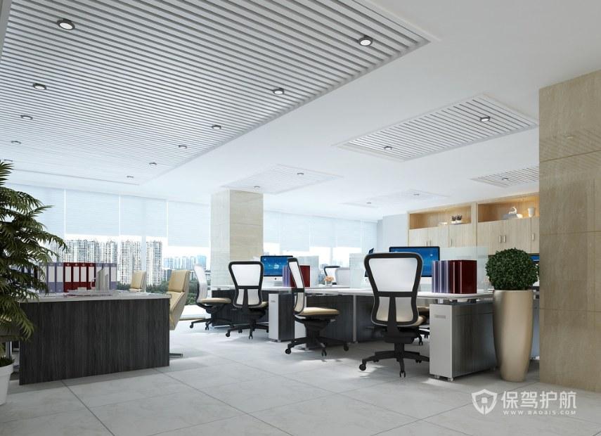 现代风办公室办公区装修效果图