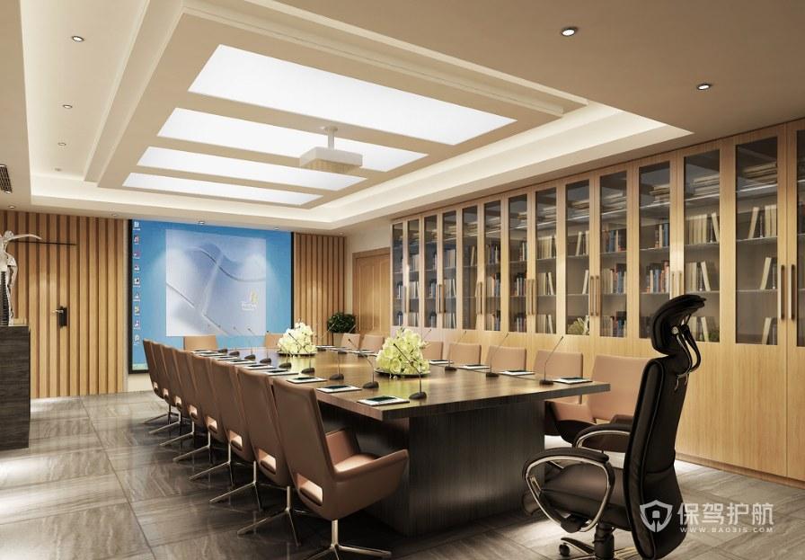 豪华现代办公会议室装修效果图