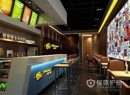 36平米现代风格奶茶店装修效果图