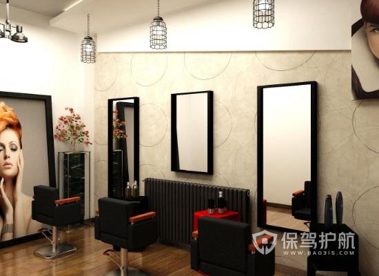 25平米日式风格美发店装修效果图