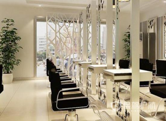 70平米现代简约风格理发店装修效果图…