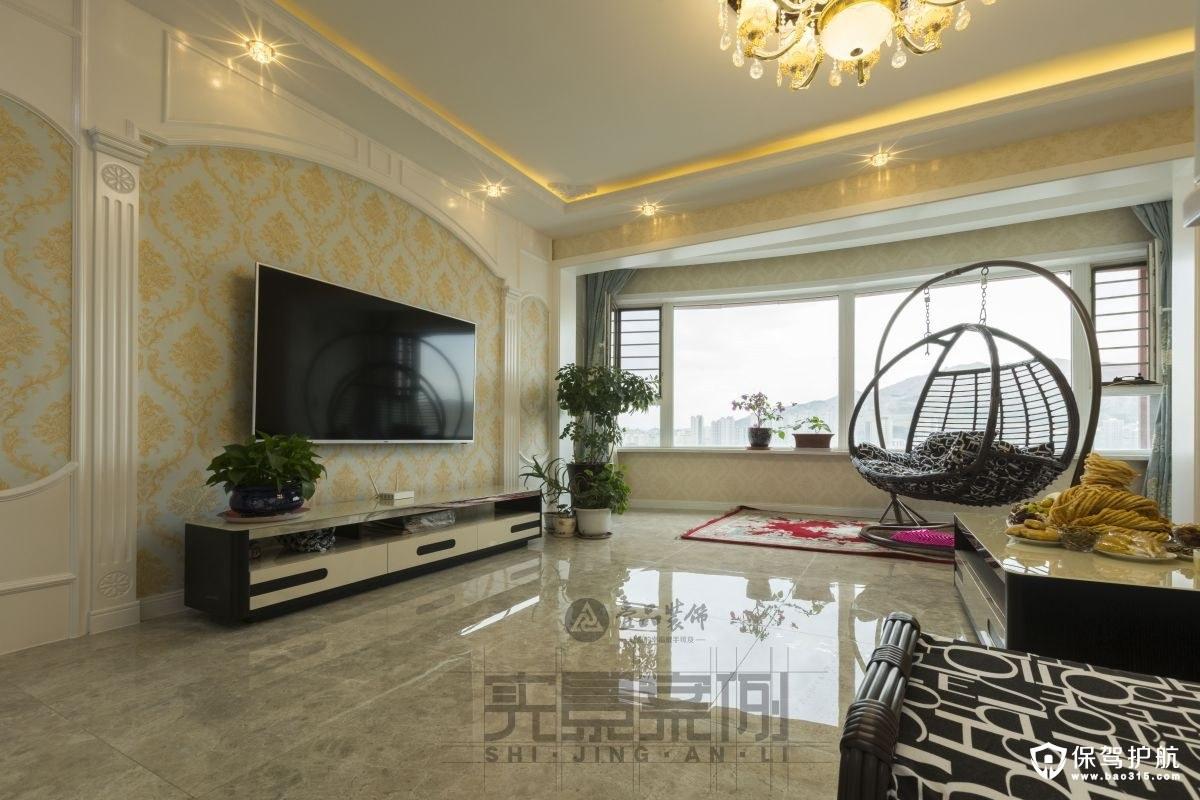 珠江涵碧景苑125平米简欧风格装修效果图