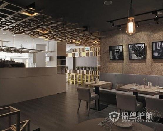 现代创意古典风咖啡厅吊顶装修效果图