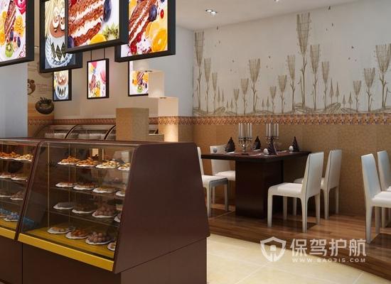 90平米欧式风格甜品店装修效果图