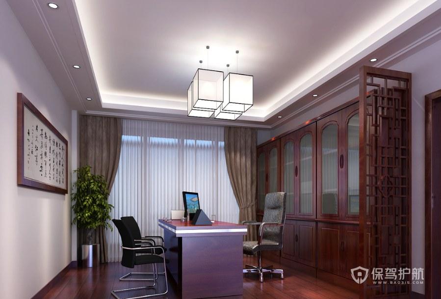 中式風格經理辦公室裝修效果圖