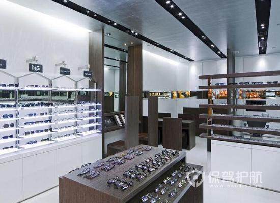 60平米現代風格眼鏡店貨架設計效果圖…