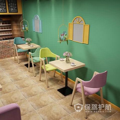 小型奶茶店怎样选风格?40平米网红奶茶店装修效果图