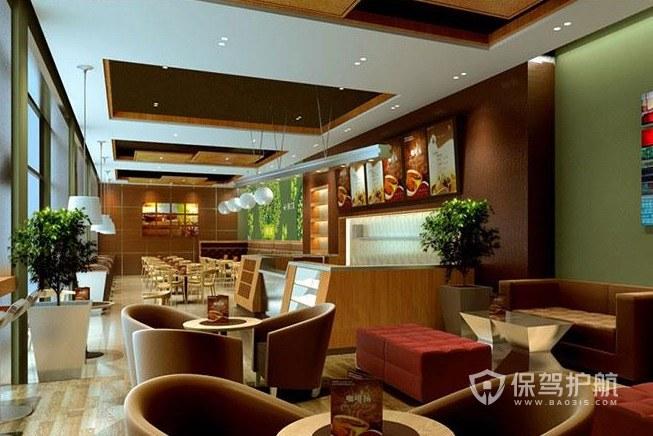 现代简约欧式风咖啡厅装修效果图