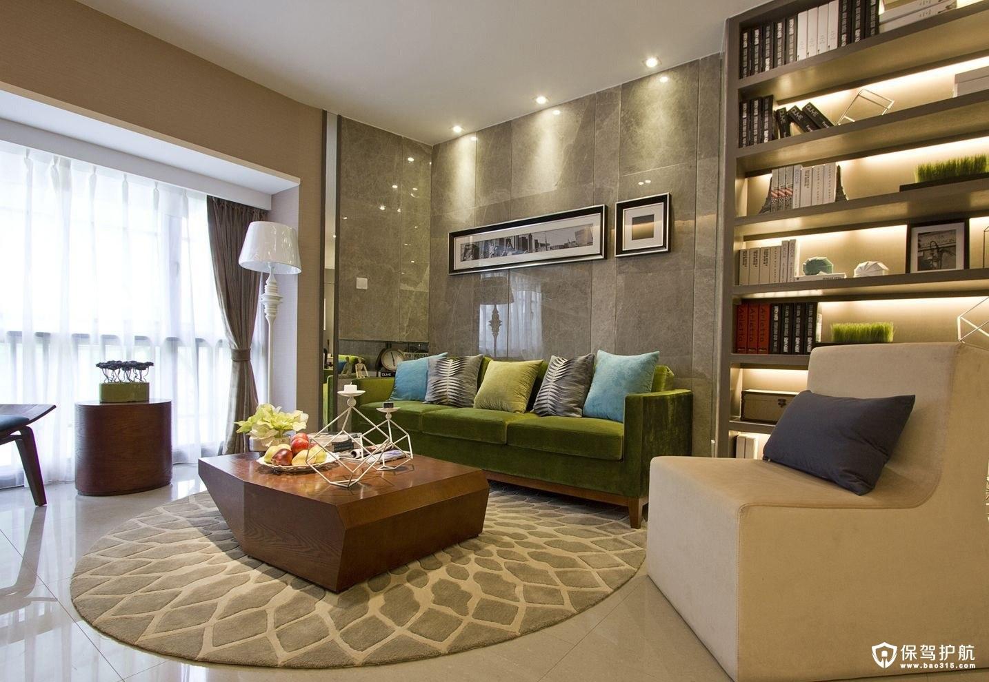 让人喜欢的混搭风格单身公寓设计效果…