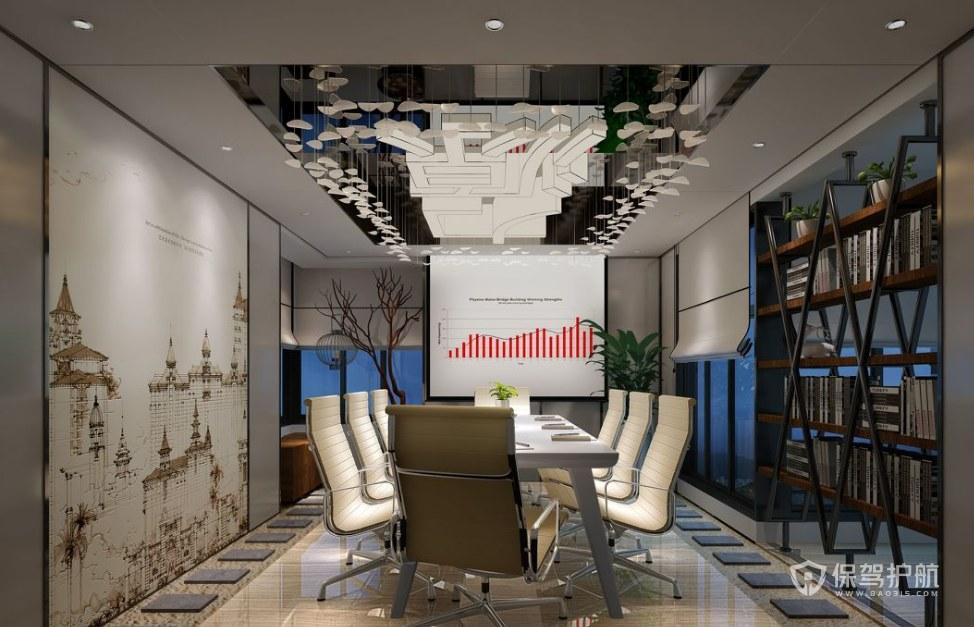 新中式混搭辦公會議室裝修效果圖