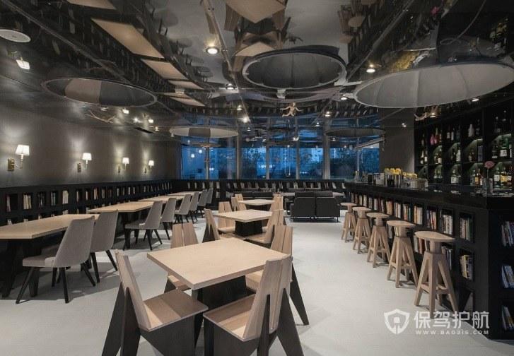 创意现代哥特式咖啡厅装修效果图