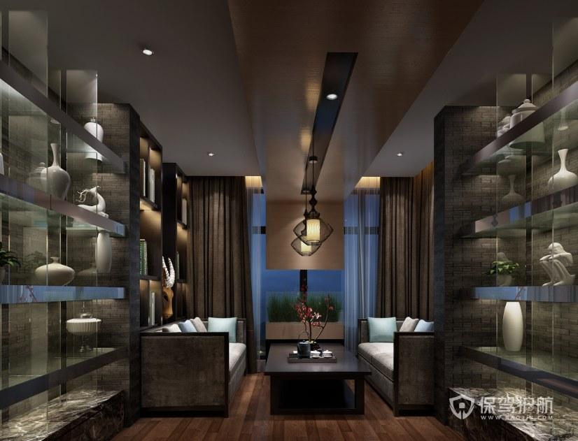 中式底蕴办公接待室装修效果图