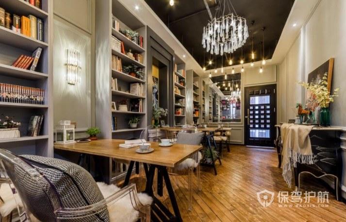 西式創意咖啡廳書屋設計裝修效果圖