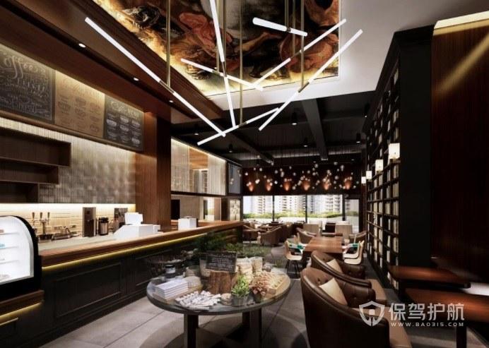 欧式古典创意咖啡厅灯饰装修效果图