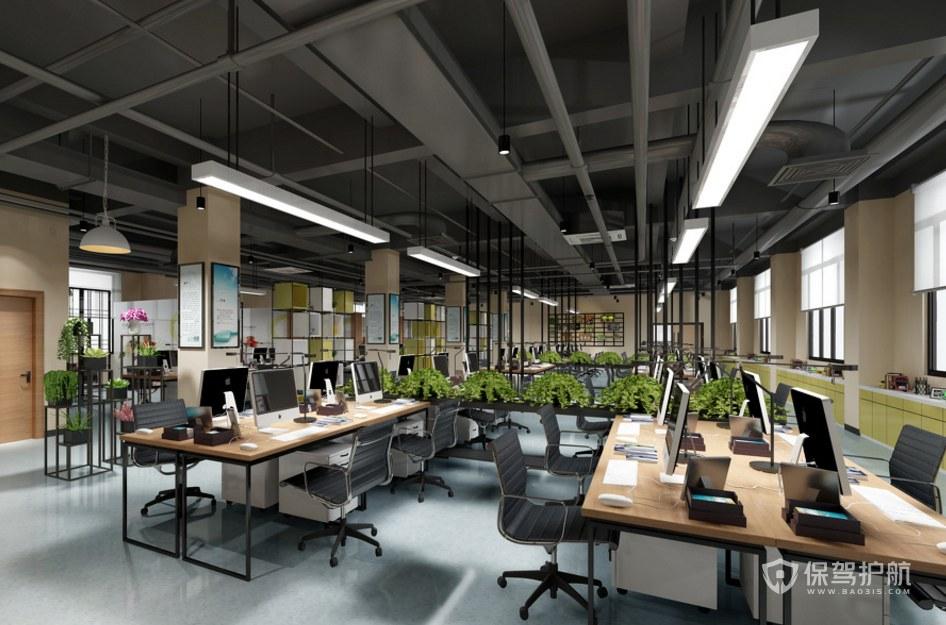 工业风格办公室办公区装修效果图
