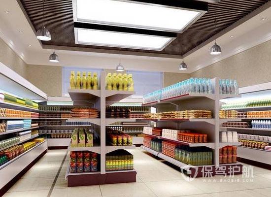71平米现代风格小超市货架装修效果图…