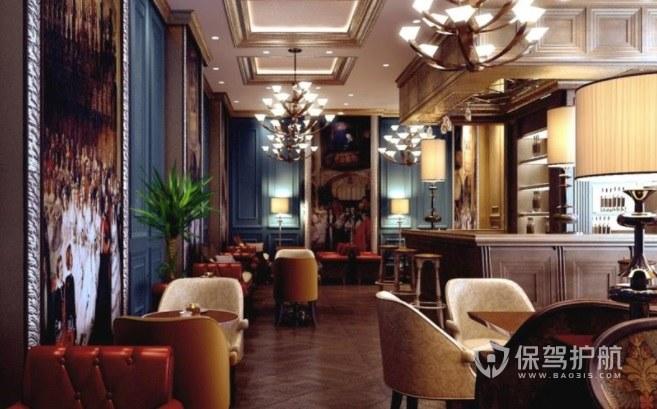 北欧复古风豪华咖啡厅装修效果图