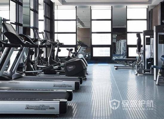 130平米现代简约风格健身房装修效果…