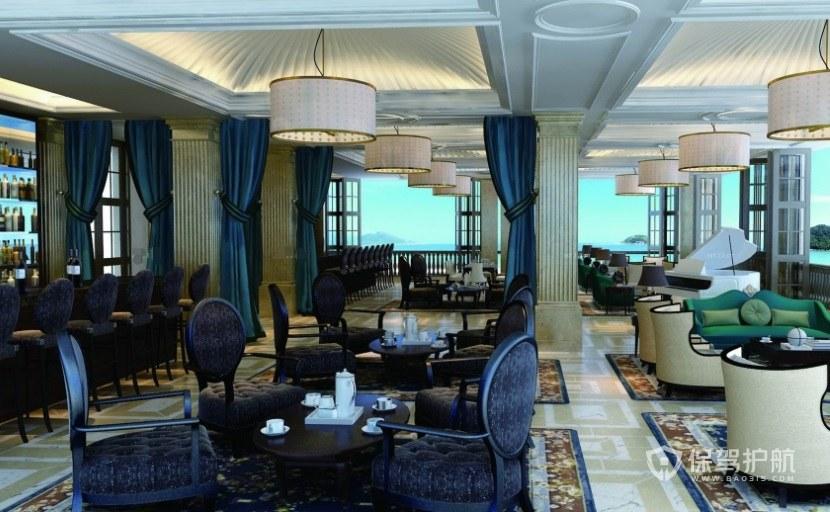 意大利輕奢風典雅咖啡廳裝修效果圖