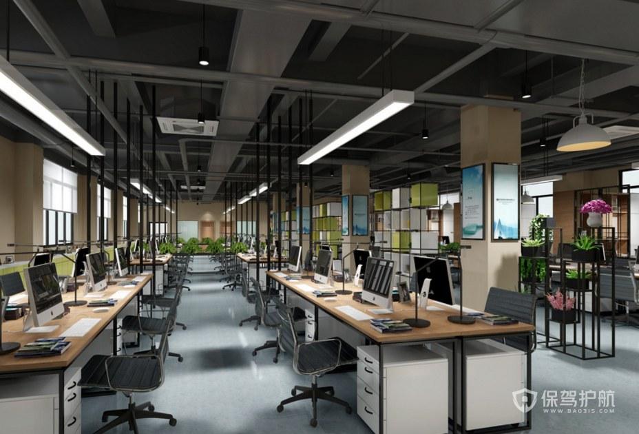 轻工业风办公室办公区装修效果图