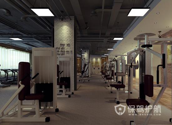 工業簡約風格健身房裝修效果圖
