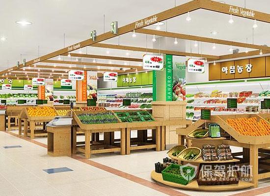 155平米现代风格超市吊顶装修效果图…